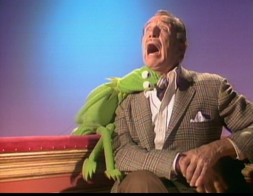 The Muppets wallpaper possibly containing a business suit titled Kermit & Vincent Price