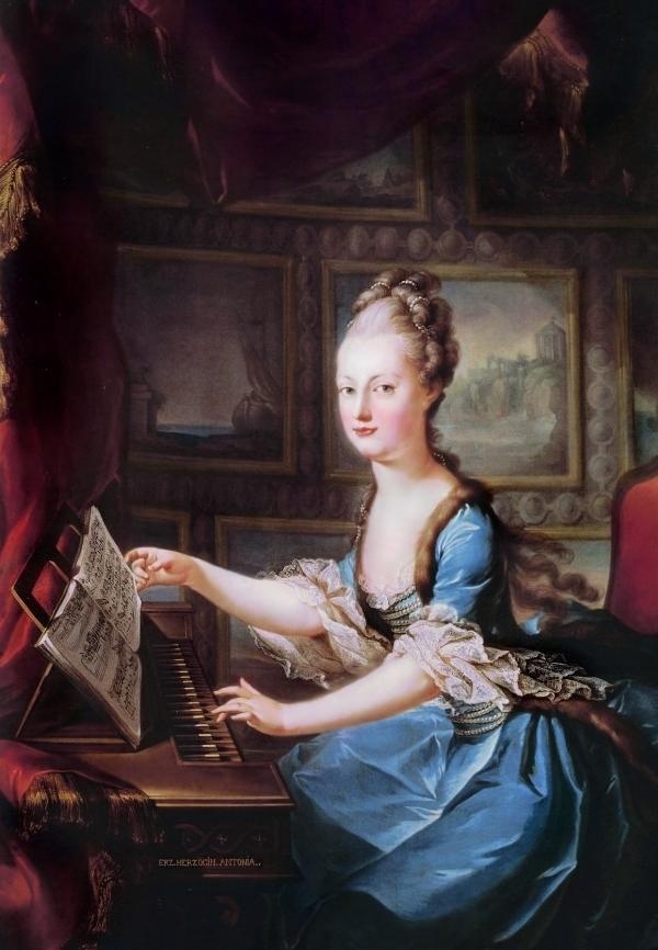 Marie Antoinette at her Spinet