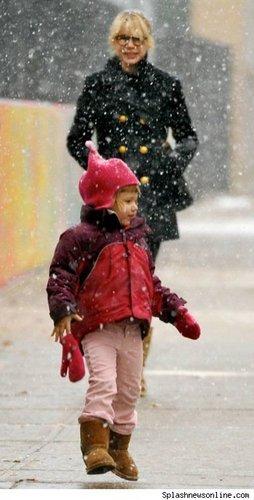 Michelle & Matilda In the Snow