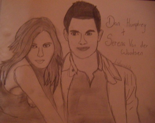 My Sketches- Dan, Serena, Blair, Chuck, Nate