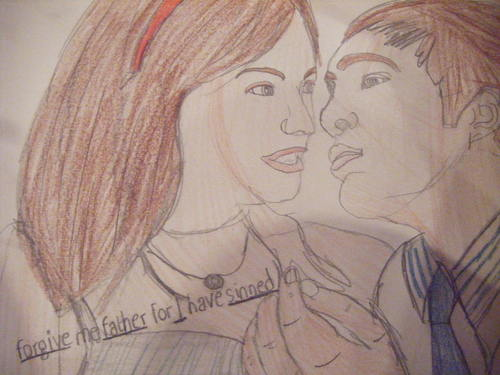 My Sketches of Blair Waldorf and Chuck 低音