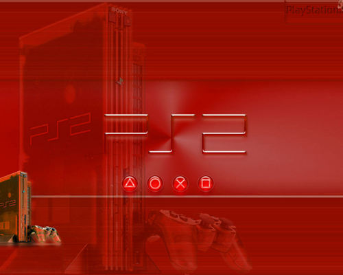 Red, see-through PS2
