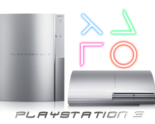 Playstation 3 wallpaper entitled Silver PS3