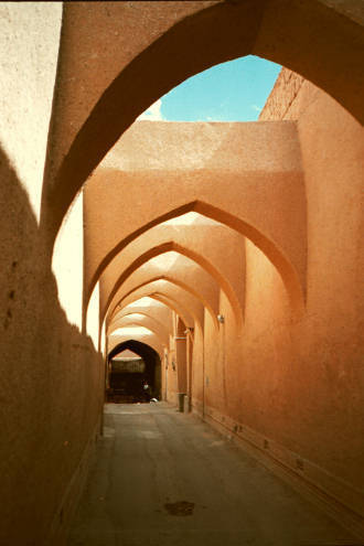 The streets of old Yazd