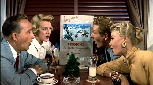 Christmas Movies wallpaper with a dinner table, a bistro, and a brasserie entitled White Christmas (1954)