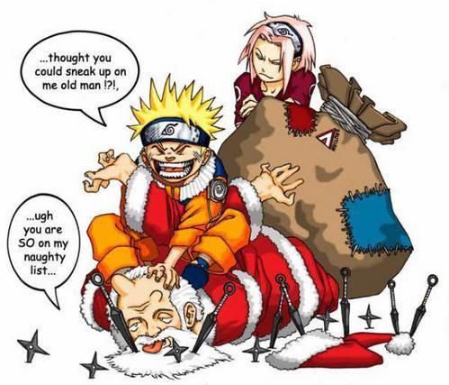 Наруто картинки новогодние на 2011 (Naruto pictures Christmas)