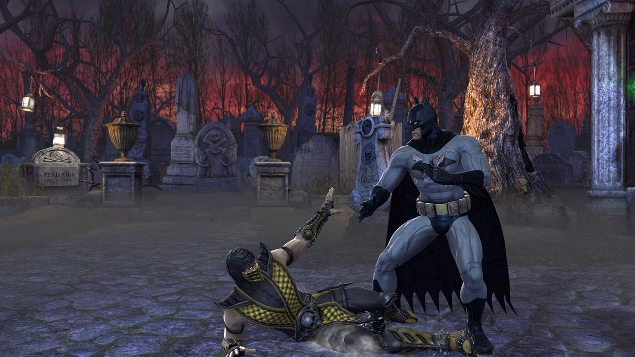 mortal kombat vs. dc universe images batmen vs scopion hd wallpaper