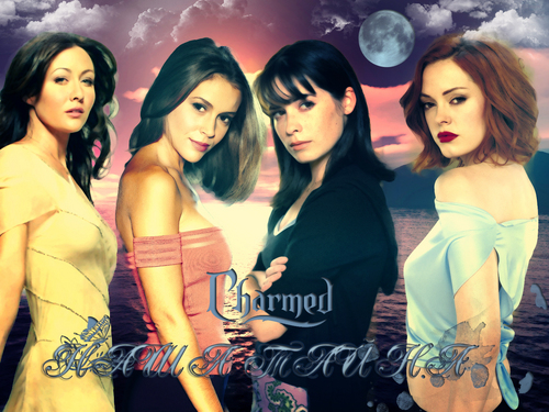 Charmed wallpaper with a portrait entitled charmed