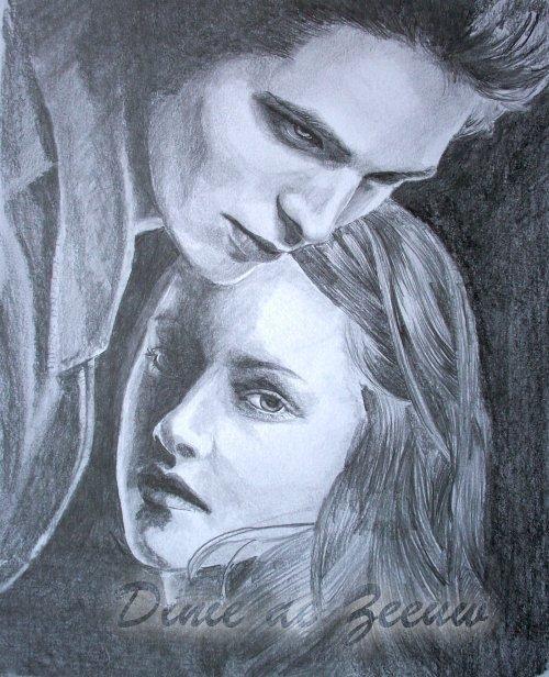 Drawing Of Edward Bella Edward And Bella Fan Art