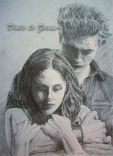 drawing of edward & bella