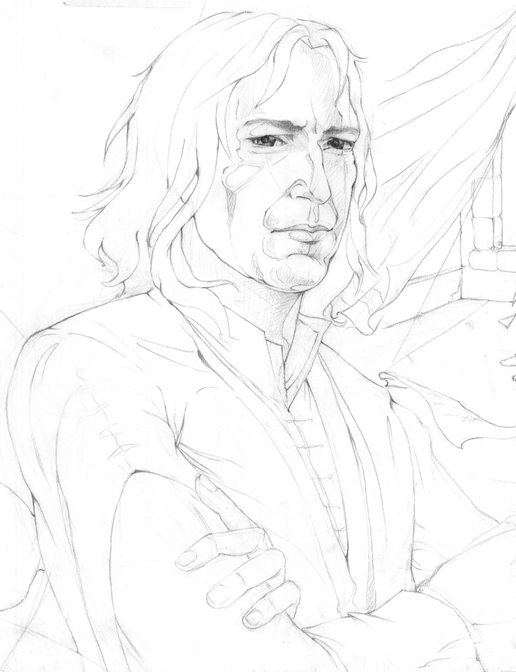 the potions master - severus snape fan art  3195864