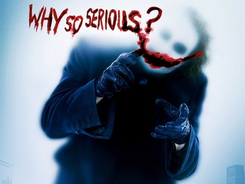 The Joker kertas dinding probably with a red cabbage entitled why so serious?
