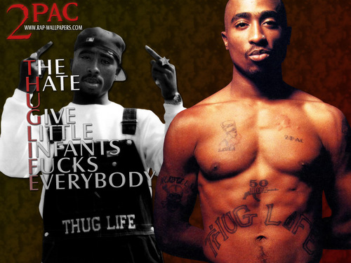 Tupac Shakur fond d'écran probably with a gros morceau, hunk and a six pack titled 2Pac