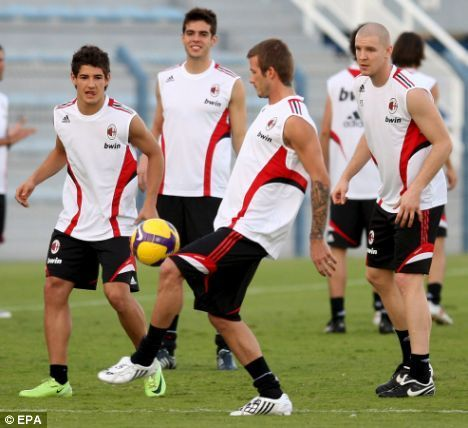 Ac Milan training in Dubai
