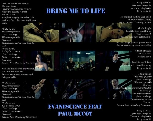 BRING ME TO LIFE LYRICS