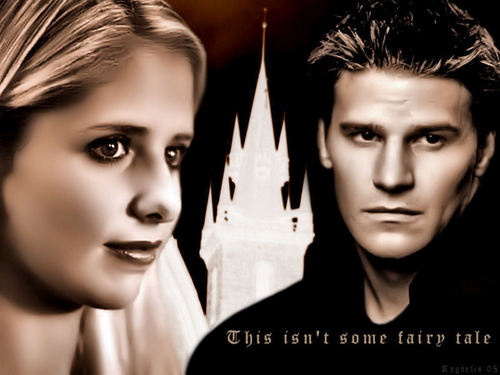 Bangel wallpaper possibly containing a portrait entitled BUFFY & ANGEL