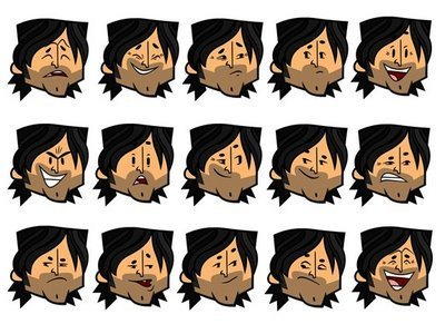 Total Drama Island wallpaper called CHRIS FACES OF TDA