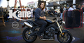 Christian Kane on a motorcycle