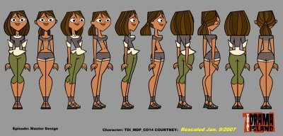 Total Drama Island wallpaper called Courtney rotation