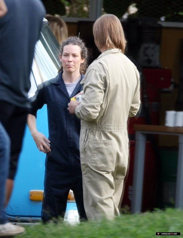 Evangeline on Set