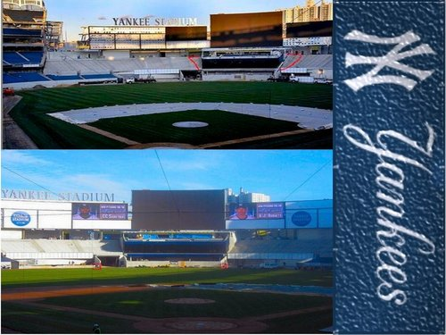 New York Yankees Wallpaper With A Business District And Carriageway Titled Inside Yankee Stadium