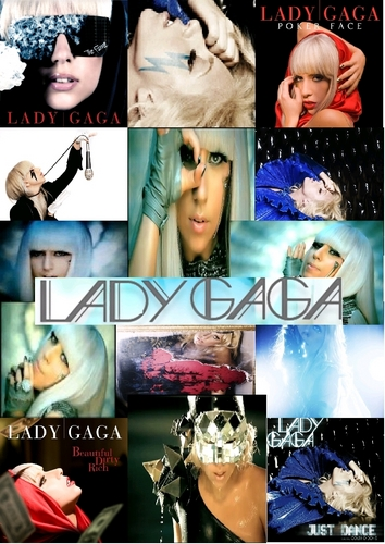 Lady Gaga wallpaper possibly containing anime and a portrait called Lady GaGa Collage