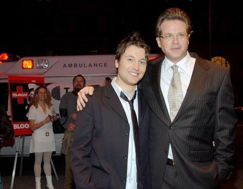 Leigh Whannell (Adam) and Cary Elwes (Dr.Lawrence Gordon)