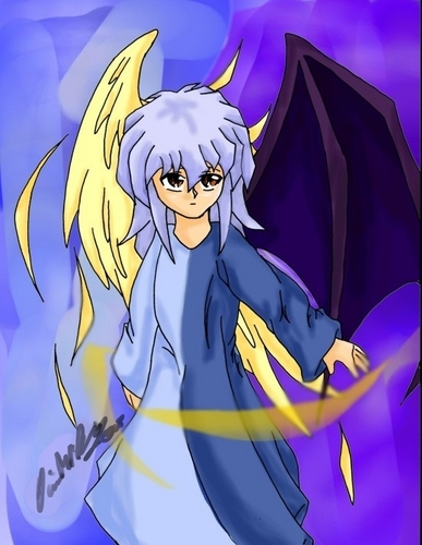 Light and darkness, Angel Ryou.