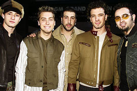 NSYNC wallpaper probably containing an outerwear, a well dressed person, and a strada, via entitled NSYNC