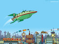 Planet Express Ship - futurama wallpaper