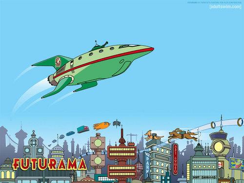 Futurama wallpaper called Planet Express Ship