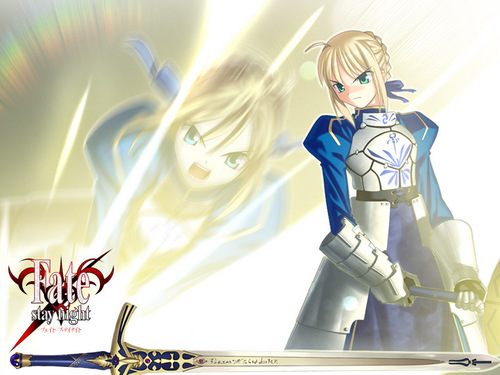 Saber and Caliburn
