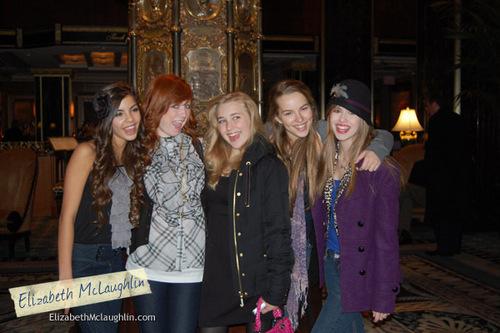 Sam with the Clique Cast