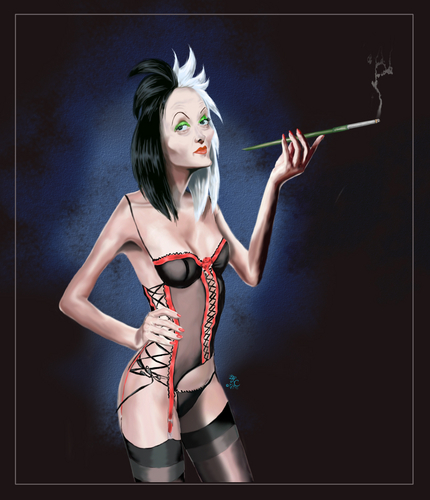 Cruella DeVil wallpaper probably with a swimsuit, a bustier, and a leotard called Sexy Cruella