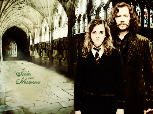 Sirius Black wallpaper containing a business suit, a street, and a well dressed person entitled Sirius and Hermione