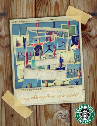 Starbucks Advertisement - starbucks Fan Art