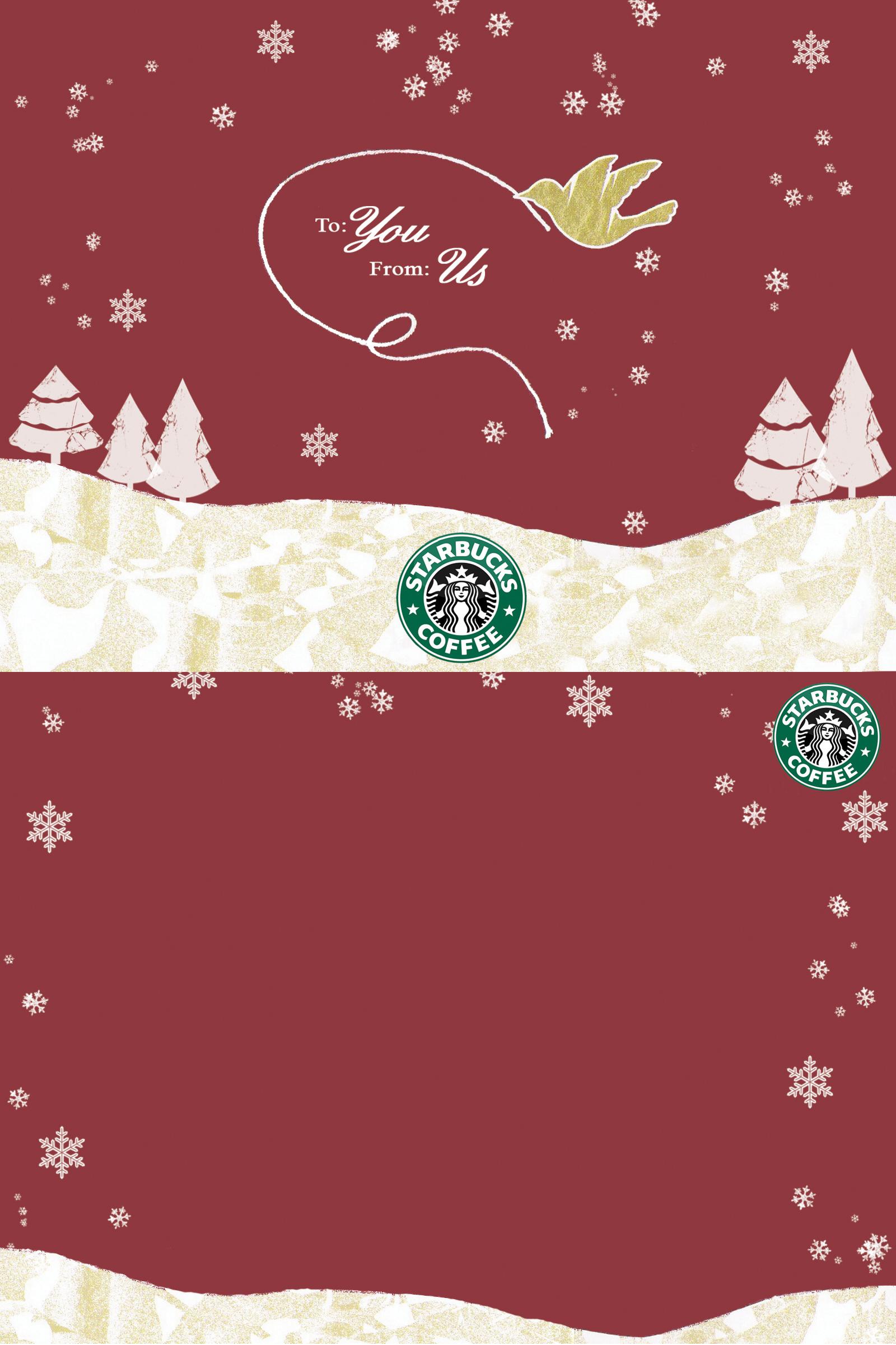 christmas starbucks iphone wallpaper