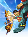 superman vs goku - justice-league photo