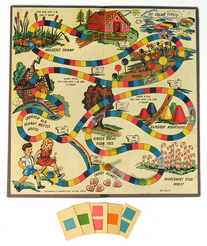 1949 Original permen Land Game