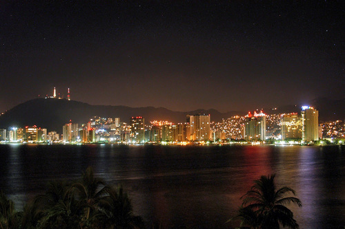 Acapulco at night