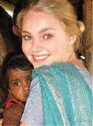 AnnaSophia in India