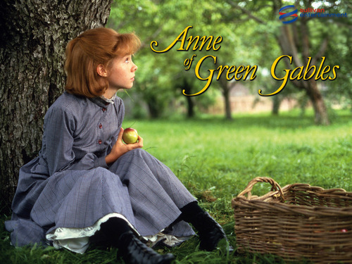 Anne of Green Gables wallpaper possibly with a sign, a mulch, and a basket called Annewp2