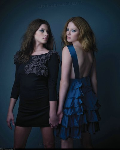 Ashley and Rachelle Photoshoot for H magazine