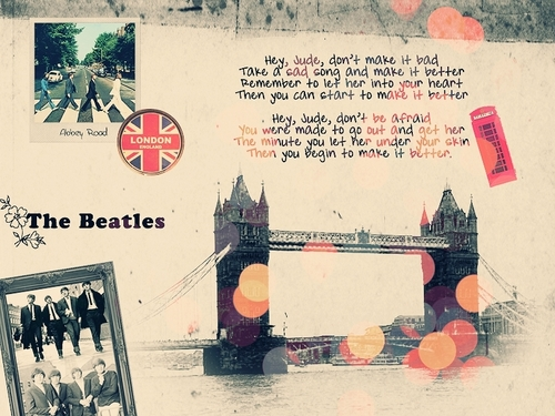 The Beatles wallpaper possibly containing a newspaper titled Beatles Fan Art