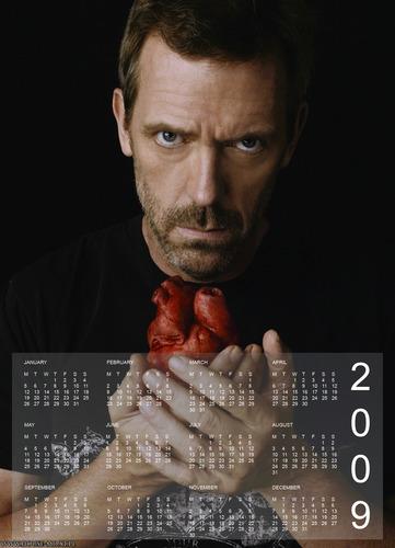 Calendar with House
