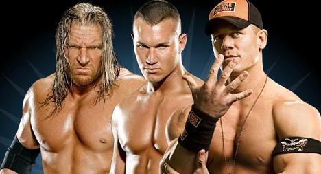 Cena,Orton,HHH
