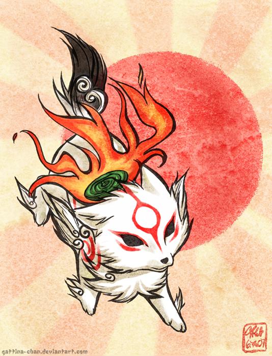 Okami Video Game images Chibi Okami ^^ wallpaper and background photos ...