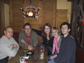Dads friend, my sisters boyfriend, my sister Nadja *DarkangelNadja*, me and Mario^^ in a pub