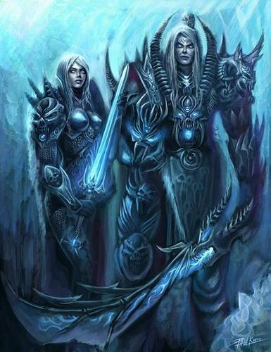 Death knights - world-of-warcraft Fan Art