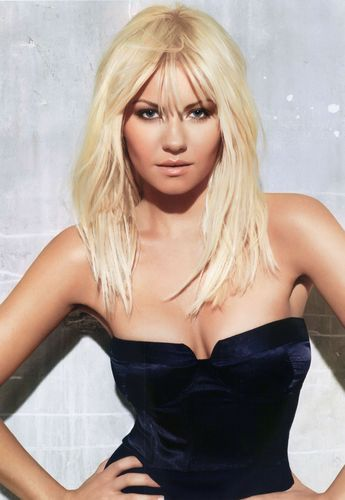 Elisha Cuthbert wallpaper containing a bustier, a cocktail dress, and attractiveness entitled Elisha in Maxim